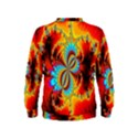 Crazy Mandelbrot Fractal Red Yellow Turquoise Kids  Sweatshirt View2