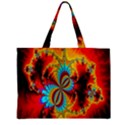Crazy Mandelbrot Fractal Red Yellow Turquoise Zipper Mini Tote Bag View1