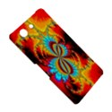 Crazy Mandelbrot Fractal Red Yellow Turquoise Sony Xperia Z3 Compact View5