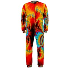 Crazy Mandelbrot Fractal Red Yellow Turquoise OnePiece Jumpsuit (Men)