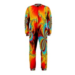 Crazy Mandelbrot Fractal Red Yellow Turquoise OnePiece Jumpsuit (Kids)