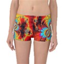 Crazy Mandelbrot Fractal Red Yellow Turquoise Boyleg Bikini Bottoms View1