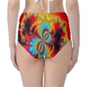 Crazy Mandelbrot Fractal Red Yellow Turquoise High-Waist Bikini Bottoms View2