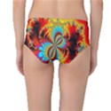 Crazy Mandelbrot Fractal Red Yellow Turquoise Mid-Waist Bikini Bottoms View2