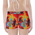 Crazy Mandelbrot Fractal Red Yellow Turquoise Boyleg Bikini Wrap Bottoms View2