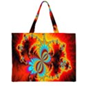 Crazy Mandelbrot Fractal Red Yellow Turquoise Large Tote Bag View1
