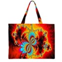 Crazy Mandelbrot Fractal Red Yellow Turquoise Large Tote Bag View2