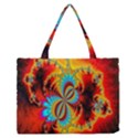 Crazy Mandelbrot Fractal Red Yellow Turquoise Medium Zipper Tote Bag View1