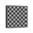 Modern Dots In Squares Mosaic Black White Mini Canvas 4  x 4  View1