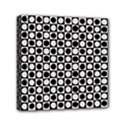 Modern Dots In Squares Mosaic Black White Mini Canvas 6  x 6  View1