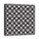 Modern Dots In Squares Mosaic Black White Mini Canvas 8  x 8  View1