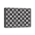 Modern Dots In Squares Mosaic Black White Mini Canvas 7  x 5  View1