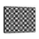 Modern Dots In Squares Mosaic Black White Canvas 10  x 8  View1
