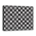 Modern Dots In Squares Mosaic Black White Canvas 14  x 11  View1