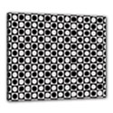 Modern Dots In Squares Mosaic Black White Canvas 24  x 20  View1