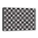 Modern Dots In Squares Mosaic Black White Canvas 18  x 12  View1