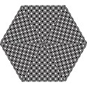 Modern Dots In Squares Mosaic Black White Mini Folding Umbrellas View1