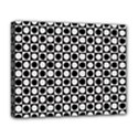 Modern Dots In Squares Mosaic Black White Deluxe Canvas 20  x 16   View1