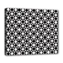 Modern Dots In Squares Mosaic Black White Deluxe Canvas 24  x 20   View1