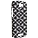 Modern Dots In Squares Mosaic Black White HTC One S Hardshell Case  View2