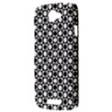 Modern Dots In Squares Mosaic Black White HTC One S Hardshell Case  View3