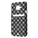 Modern Dots In Squares Mosaic Black White HTC Evo 4G LTE Hardshell Case  View3