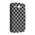 Modern Dots In Squares Mosaic Black White HTC ChaCha / HTC Status Hardshell Case  View2