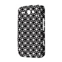 Modern Dots In Squares Mosaic Black White HTC ChaCha / HTC Status Hardshell Case  View3