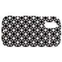 Modern Dots In Squares Mosaic Black White HTC Amaze 4G Hardshell Case  View1