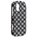 Modern Dots In Squares Mosaic Black White HTC Amaze 4G Hardshell Case  View2
