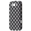 Modern Dots In Squares Mosaic Black White HTC Sensation XL Hardshell Case View3