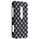 Modern Dots In Squares Mosaic Black White HTC Evo 3D Hardshell Case  View2