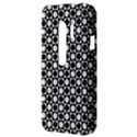 Modern Dots In Squares Mosaic Black White HTC Evo 3D Hardshell Case  View3