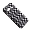 Modern Dots In Squares Mosaic Black White HTC Droid Incredible 4G LTE Hardshell Case View5