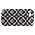 Modern Dots In Squares Mosaic Black White HTC Desire S Hardshell Case View1