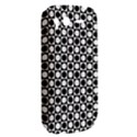Modern Dots In Squares Mosaic Black White HTC Desire S Hardshell Case View2