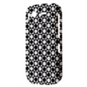 Modern Dots In Squares Mosaic Black White HTC Desire S Hardshell Case View3