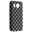 Modern Dots In Squares Mosaic Black White HTC Desire HD Hardshell Case  View2