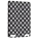 Modern Dots In Squares Mosaic Black White Kindle Touch 3G View2