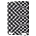 Modern Dots In Squares Mosaic Black White Kindle Touch 3G View3