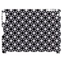 Modern Dots In Squares Mosaic Black White Apple iPad 2 Hardshell Case (Compatible with Smart Cover) View1