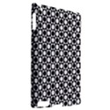 Modern Dots In Squares Mosaic Black White Apple iPad 2 Hardshell Case (Compatible with Smart Cover) View2
