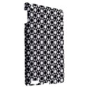 Modern Dots In Squares Mosaic Black White Apple iPad 3/4 Hardshell Case View2