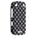 Modern Dots In Squares Mosaic Black White BlackBerry Curve 9380 View2