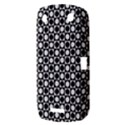 Modern Dots In Squares Mosaic Black White BlackBerry Curve 9380 View3