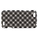 Modern Dots In Squares Mosaic Black White HTC One V Hardshell Case View1