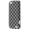 Modern Dots In Squares Mosaic Black White HTC One V Hardshell Case View3