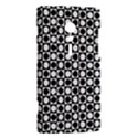 Modern Dots In Squares Mosaic Black White Sony Xperia ion View2