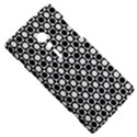 Modern Dots In Squares Mosaic Black White Sony Xperia ion View5