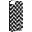 Modern Dots In Squares Mosaic Black White Apple iPhone 5 Classic Hardshell Case View2